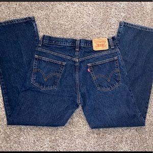 Levi's 517 Men's Dark Wash Boot Cut Jeans Sz 34/30